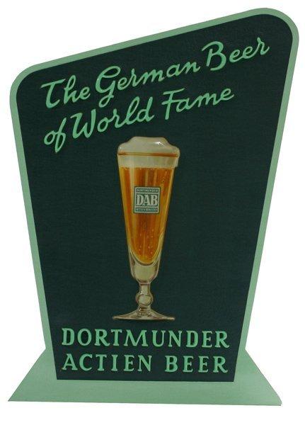 """1506: """"Dortmunder Actien Beer"""" Standup Sign"""