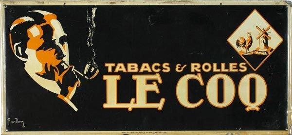 """1509: """"Le CoQ"""" Tabacs & Rolles"""" Metal Sign"""