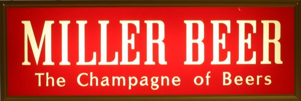 "1510: ""Miller High Life Beer"" Light up"