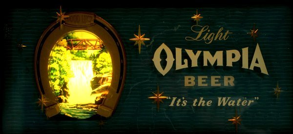 """1513: """"Olympia Beer"""" Light up Sign"""