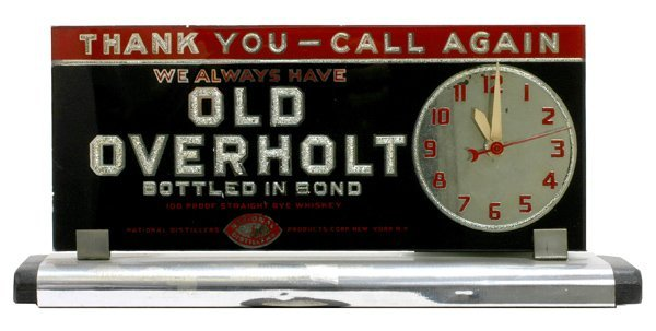 "1514: Old Overholt Whiskey""clock"