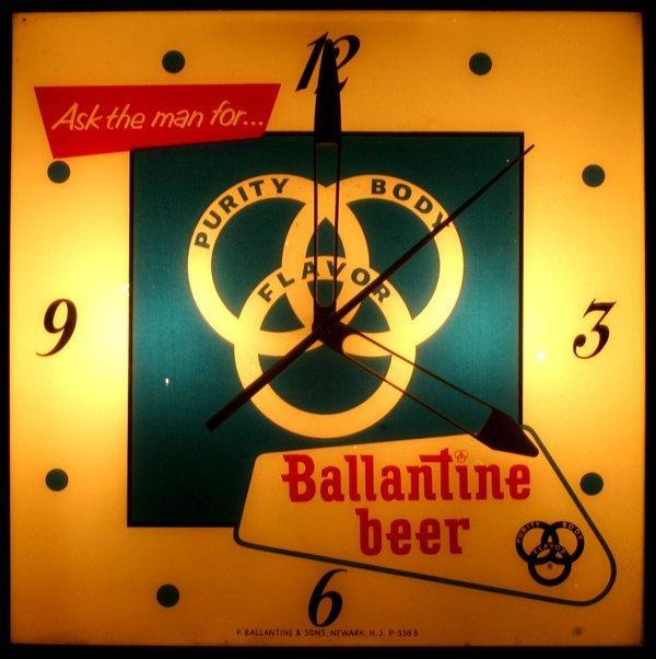 "1515: ""Ballantine beer"" Light up Clock"