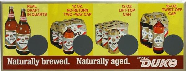 1522: Duke beer sign