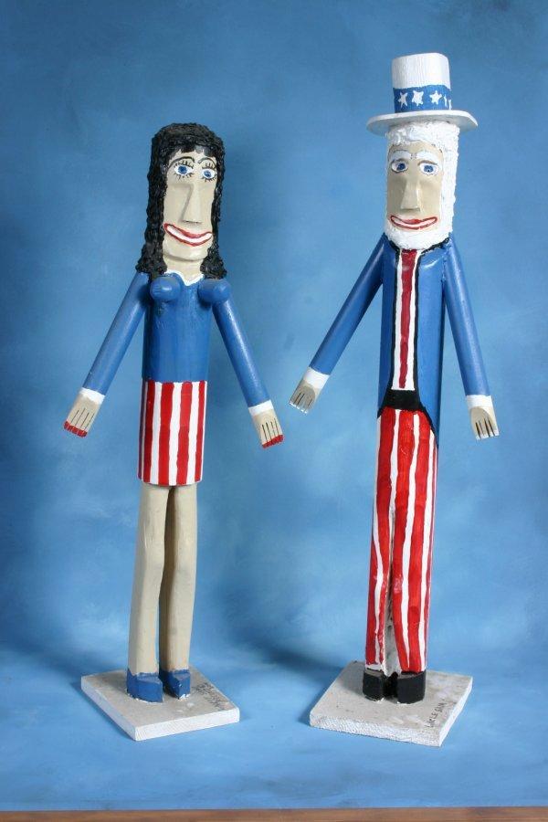 "6: Ronald Cooper ""Uncle Sam andHis Friend"". Two piece l"