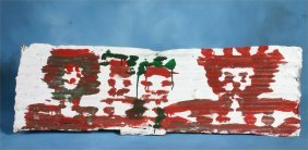 Mary T. Smith-Untitled- Paint On Tin 38 X 12 �Prove