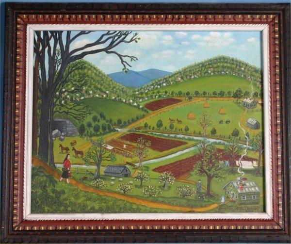 99: Genevieve Wilson-Untit-. 2001. Paint on canvas. 24