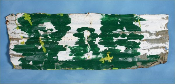 112: Mary T Smith-Untitled- Paint on tin 8 x 25 Proven