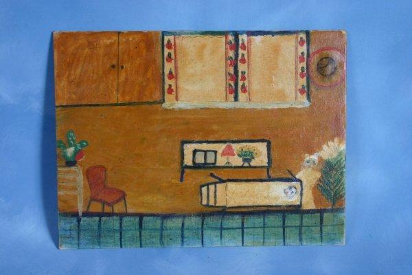 114: Lottie Mann-Untitled-. Paint on cavas panel. 18 x