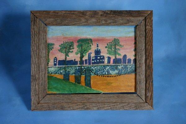 115: Lottie Mann-Untitled-. Paint on cavas panel. 18 x