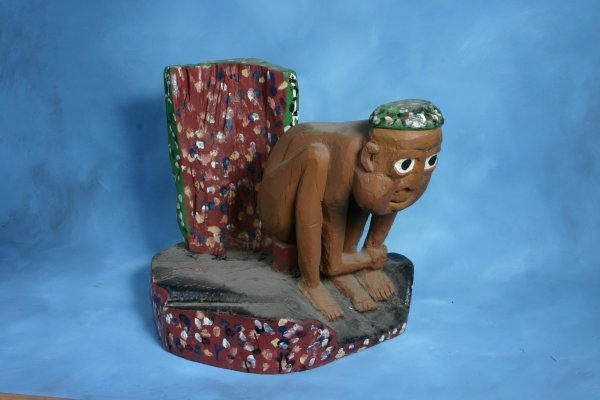 "280: Homer Green ""Caveman"". Outsider art"
