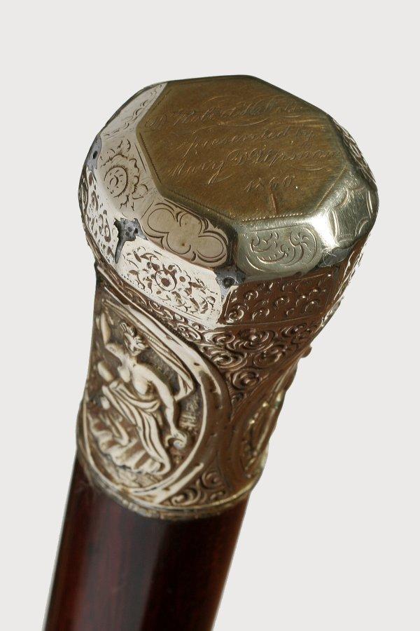 24. Patriotic Gold Overlaid Presentation-Circa 1860-Thr