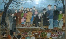 """Genevieve Adkins Wilson-Outsider Art-""""The Buriel"""". W"""