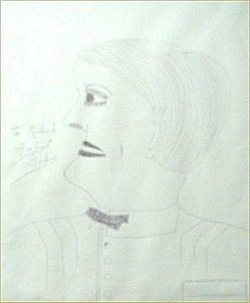 "Lee Godie-Outsider Art-""Richard Edgeworth"". Pen On"