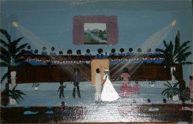 "Zelle Manning-Outsider Art-""Jazz And James Wedding"""