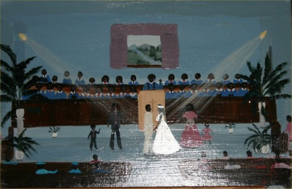 "23: Zelle Manning-Outsider Art-""Jazz and James Wedding"""
