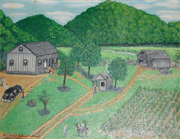 """25: Geneviev Adkins Wilson-Outsider Art-""""A Weekend Visi"""