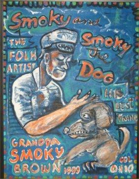 """Smoky Brown-Outsider Art-""""Smoky And Smoky And The D"""
