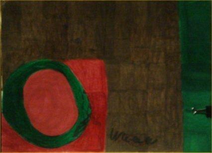 "74: Willie White-""Untitled"" Marker on poster   Dimensio"