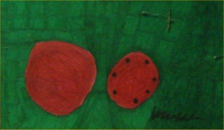 "86: Willie White-Outsider Art-""Watermelons""  Marker on"