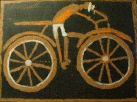 "88: Jimmy Lee Sudduth-Outsider Art-""Bicycle Man"" Mud on"
