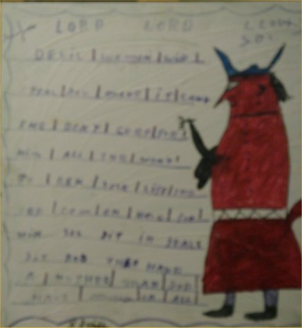 """95: RA Miller-Outsider Art-""""Lord Lord I Love You"""" Paint"""