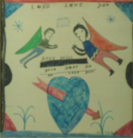 """96: RA Miller-Outsider Art-""""Lord Love You"""" Paint on woo"""