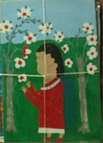"""122: Lucille Smith-Outsider Art-""""Untitled"""" Marker and p"""