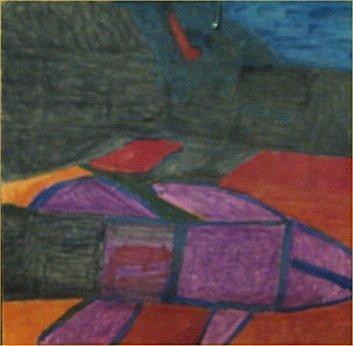 "126: Willie White-Outsider Art-""Untitled"" Marker on pos"