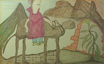 """136: GC Deprie-Outsider Art-""""Untitled"""" Crayon on paper,"""