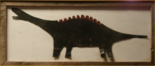 """141: RA Miller-Outsider Art-""""Dinosaur""""   Dimension:  45"""