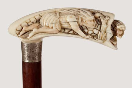 502: Native American Ivory-Ca. 1875- A precisely carved
