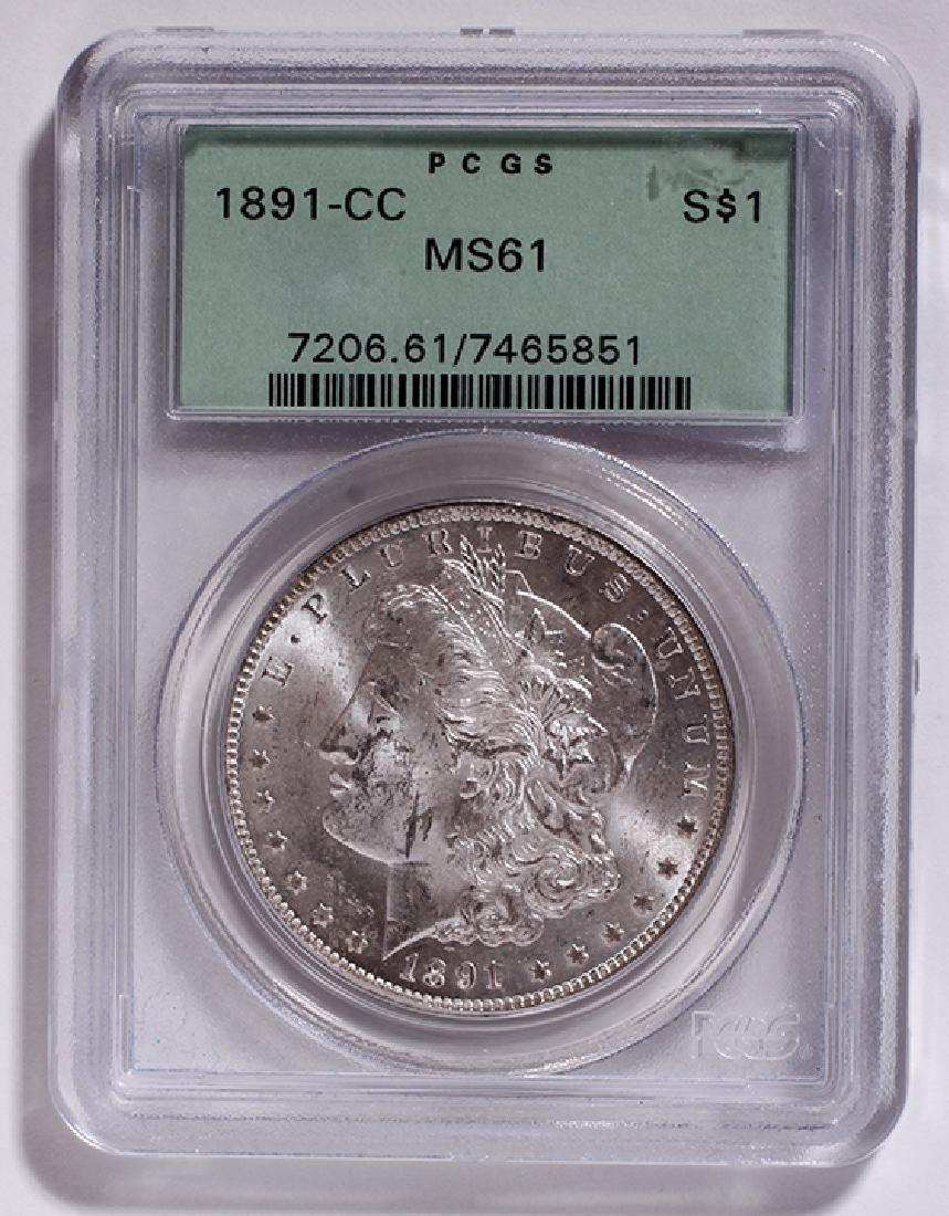 1891 CC Dollar PCGS slabed graded MS61