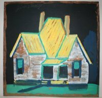 "1001: Outsider Art- Jimmy Lee Sudduth-""House"" Paint and"