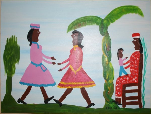 "1003: Outsider Art- Juanita Leonard- ""Three Women and a"