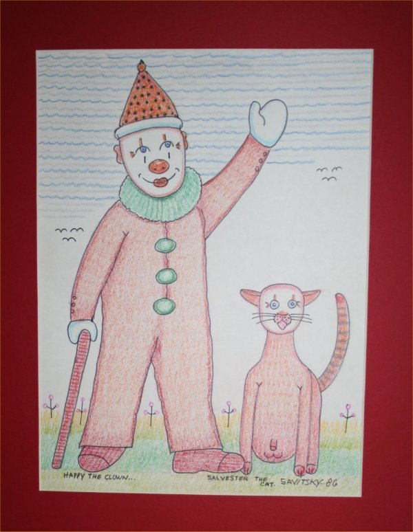 "1006: Outsider Art-Jack Savitsky- ""Happy the Clown and"