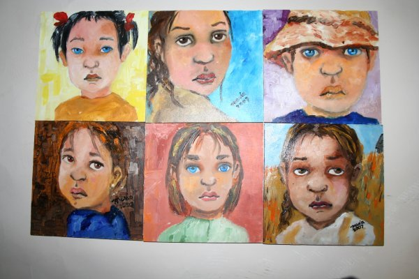 "1009: Outsider Art- Maria Timmerman- ""Marias Faces""  Oi"