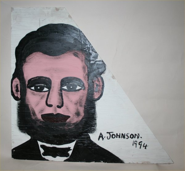 "1011: Outsider Art- Anderson Johnson- ""Abe Lincoln"" Pai"