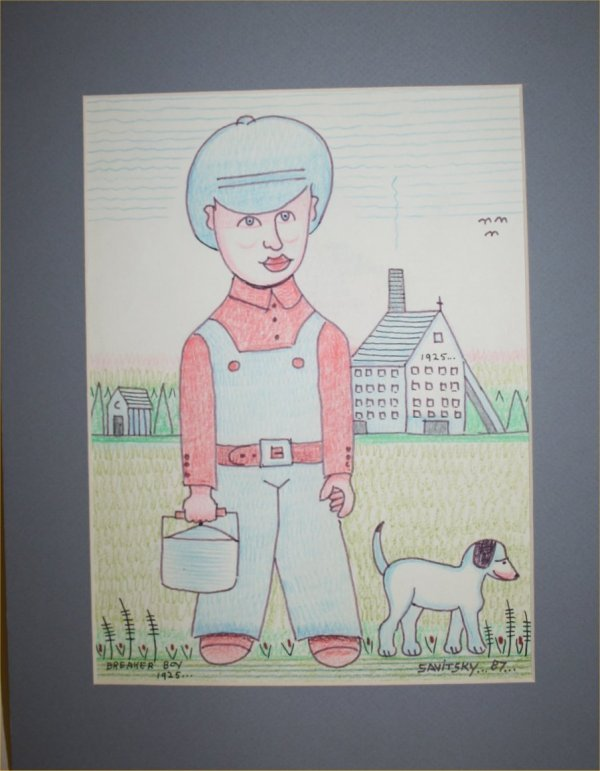 "1015: Outsider Art- Jack Savitsky- ""Breaker Boy 1925"" P"