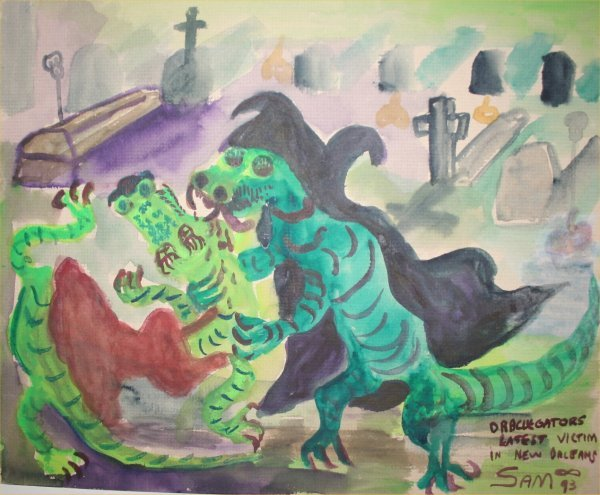 "1022: Outsider Art- Sam Mc millian- ""Draculator"" Paint"
