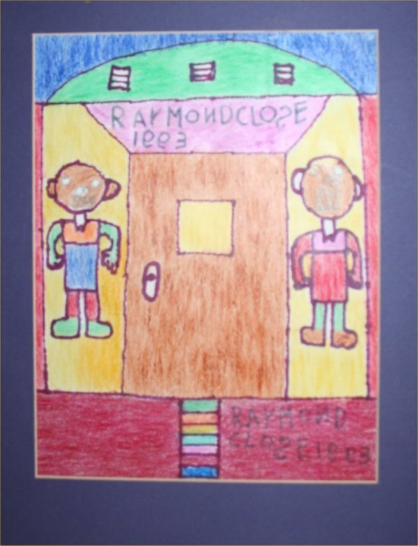 "1024: Outsider Art- ""Raymond Close"" ""Untitled"" Pastel o"