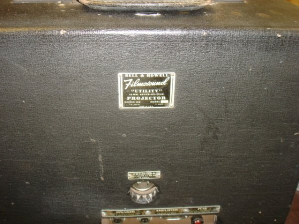 """9: Bell and Howel """"Films Ound Utility"""" Projector"""
