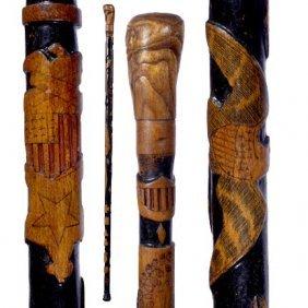 Charles Teal Folk Art Cane