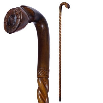 55: Anglo-Greek Folk-C. 1900-Cane is decorated with the