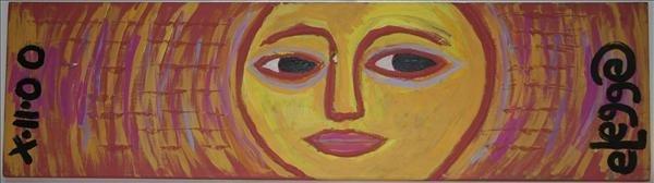 """1004: Outsider Art- Eric Legge """"Face"""", 2000. paint on w"""