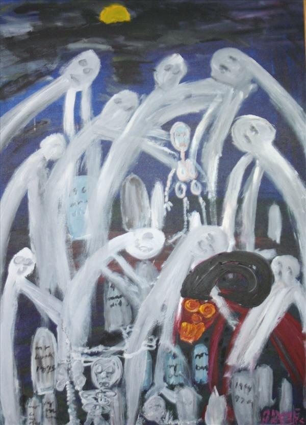 """1154:  Outsider Art- Alyne Harris, """"Graveyard Spirits"""""""