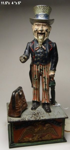 Uncle Sam, Mechanical Bank, Missing Trap.
