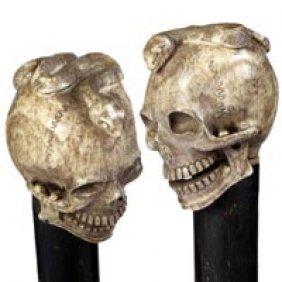 Carved Bone Skull