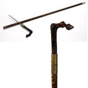 20: Tortoise and Snake Dagger Cane
