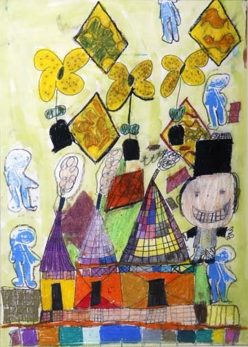 "20: Mary Gooldrup-""At The Circus"". Paint pastel and mar"