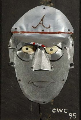 "C.W. Conner-""Braves Player"". Paint, Aluminum, Tin,"